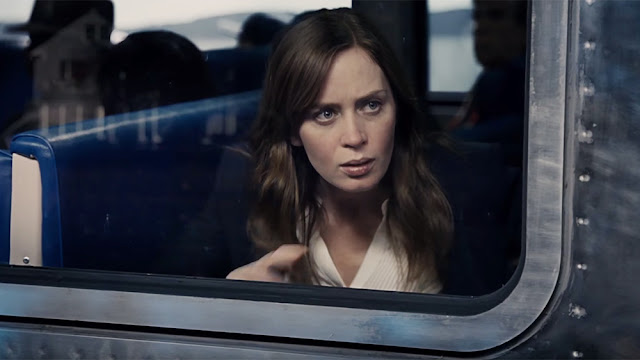 "Emily Blunt is suspicious and suspected in ""The Girl on the Train"""