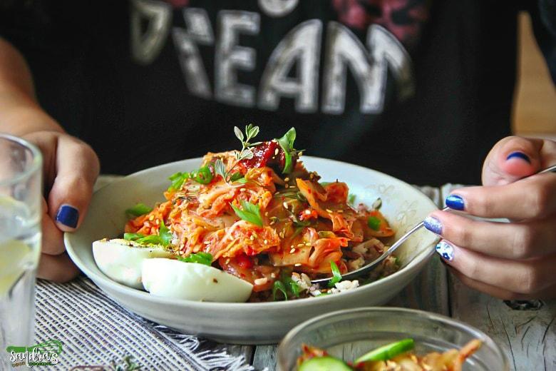 Multi-Grain Medley Bowl with Kimchi