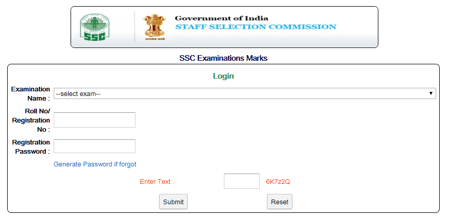 SSC MTS 2016 Marks