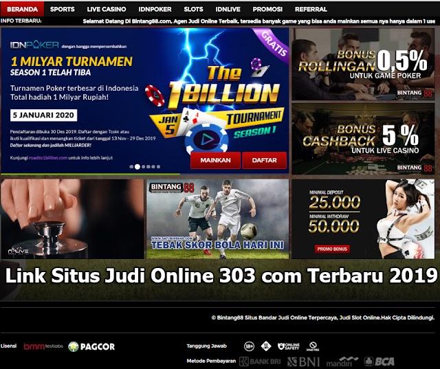 Link Situs Judi Online 303 com Terbaru 2019