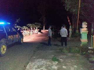 Ciptakan Kamtibmas yang Kondusif, Kapolsek bersama Personel Polsek Malua Laksanakan Patroli Blue Light