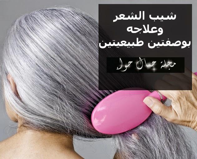 شيب الشعر وعلاجه بوصفتين طبيعيتين  وصفات, طبيعية, علاج, شيب, شعر