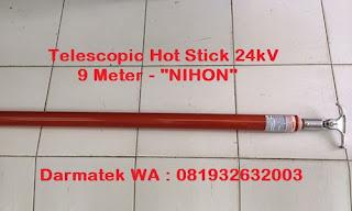 Darmatek Jual Telescopic Hot Stick NIHON panjang 9 meter 24kV - Jakarta Selatan