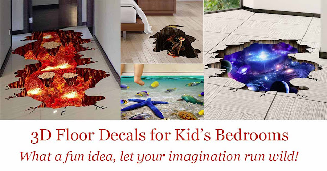 3D floor decals are a great idea for children's bedrooms