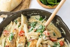 Chicken Bacon Spinach Pasta