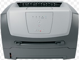 has a small footprint for any laser printer Lexmark E250D Driver Download