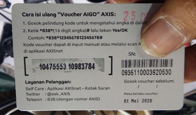 Bagi Bagi Voucher Internet Axis Gratis Setiap Hari