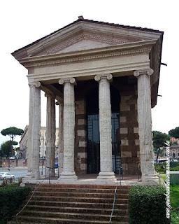 templo portunus foro boario guia particular roma portugues - Via del Teatro Marcello - 2500 anos de arquitetura
