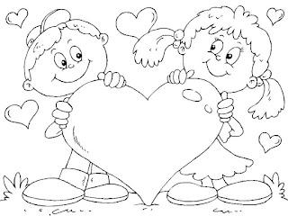 דפי צביעה ילדים לבבות