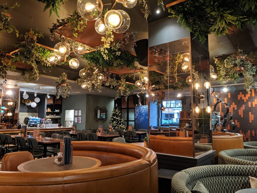 All Bar One Newcastle Brunch Review - restaurant interior and booths