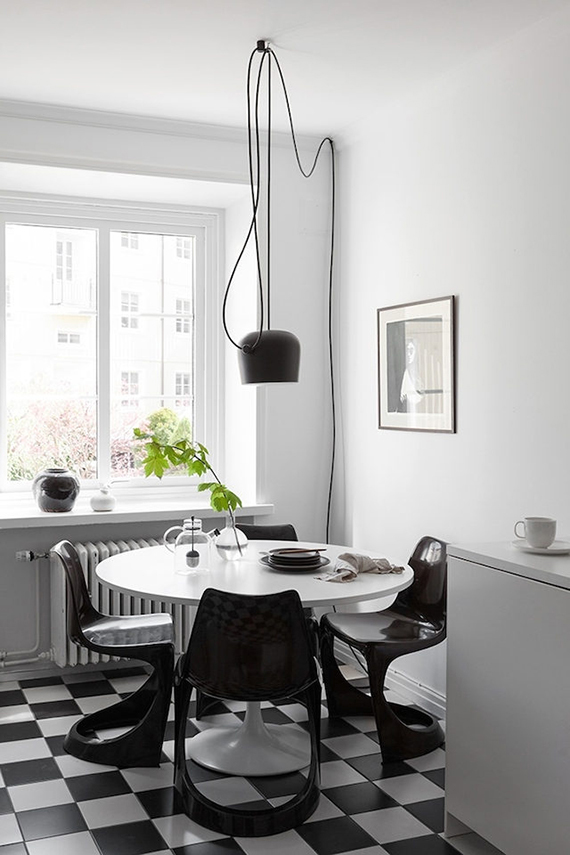 Aim Single Pendant Light designed by Ronan & Erwan Bouroullec for Flos | Scandinavian kitchen via Alvhem