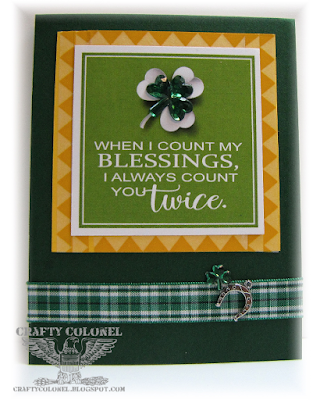 CraftyColonel Donna Nuce for Cards in Envy Green challenge.