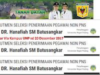 Rekrutmen Peg RSUD Kab Tanah Datar Via Kampus UNP sd 20 Desember 2017