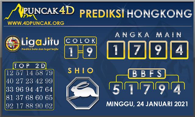 PREDIKSI TOGEL HONGKONG PUNCAK4D 24 JANUARI 2021