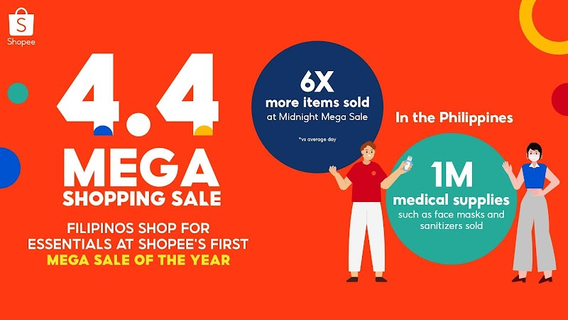 Filipinos purchased essentials safely and conveniently at the Shopee 4.4 Mega Shopping Sale