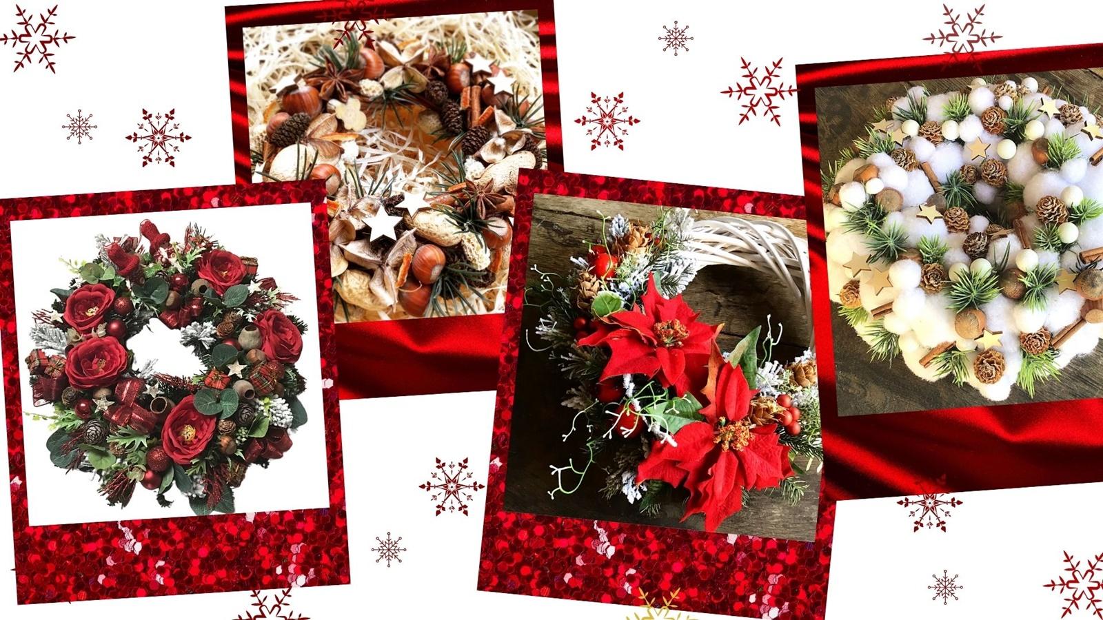 świąteczne wianki handmade cena gdzie kupić ozdoby świąteczne na prezent na stół wianek bożo narodzeniowy na świeczkę ozdobny na drzwi