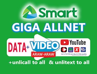 Smart GIGA AllNet Promo – Data, Unli calls and Texts to all Networks