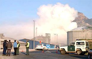 Historias de Alumbres: El incendio del silo de abonos de Fertibería en Escombreras