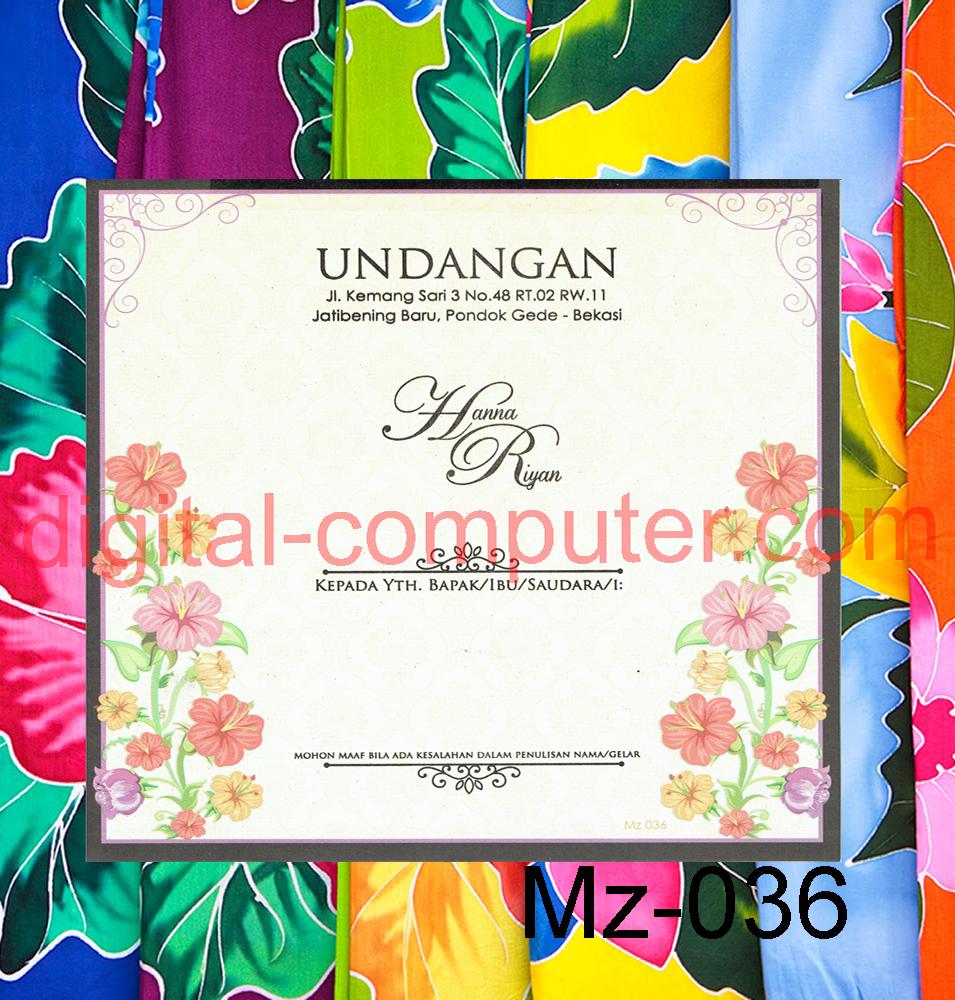 Undangan Softcover Mz-036