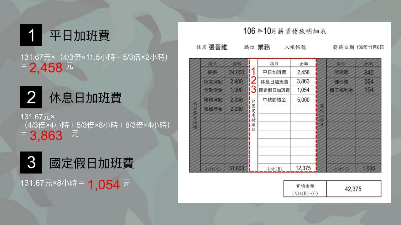 非經常性給予;薪資表;工資明細;工資清冊;薪資袋;薪水條