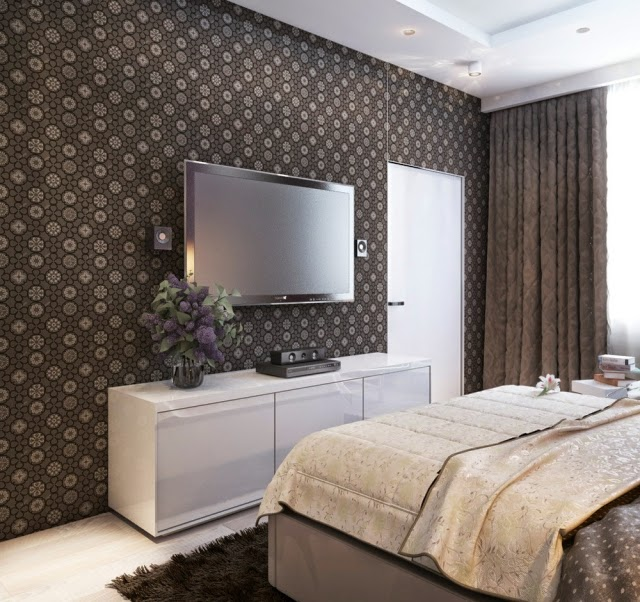 Decorar paredes de dormitorios dormitorios colores y estilos - Paredes decoradas con papel ...