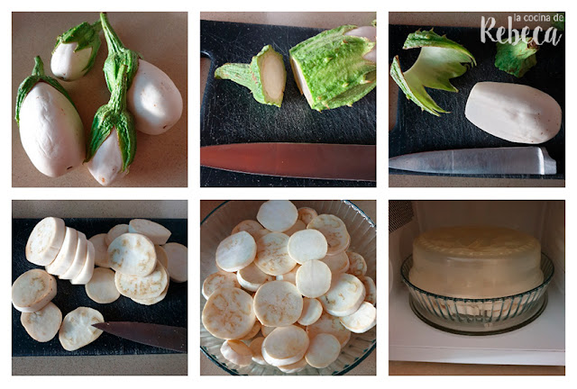 Receta de berenjenas a la parmesana: cocinado de las berenjenas