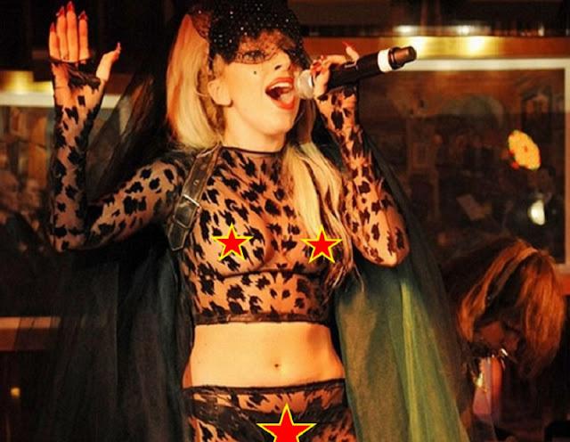 Lady Gaga com roupa transparente (Imagem: Reprodução/Internet)