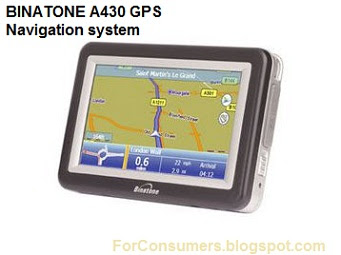 Binatone A430 navigation system