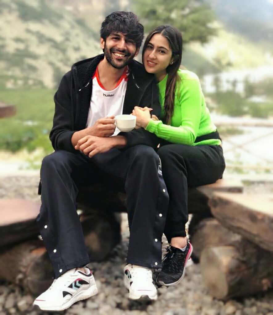 kartik aaryan, sara ali khan, imtiaz ali, love aaj kal 2, kartik aaryan sara ali khan in shimla, kartik aaryan sara ali khan cute photos, sartik photos, sara kartik cute pics hd, sartik couple
