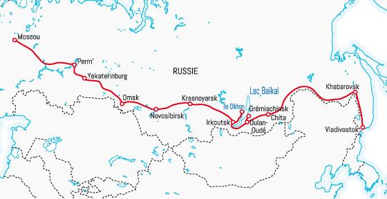 transsibérien plan trajet train
