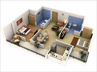 desain rumah minimalis modern 2 lantai ukuran 6x15