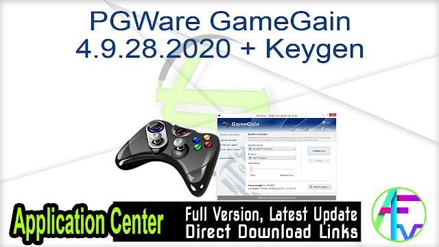 PGWare GameGain 4.9.28.2020 + Keygen