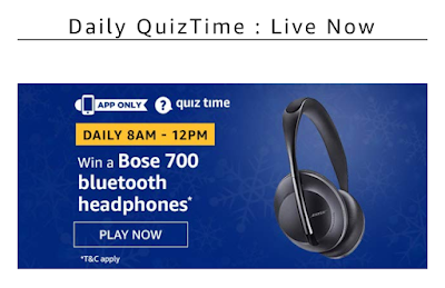 Amazon quiz answer 21 december