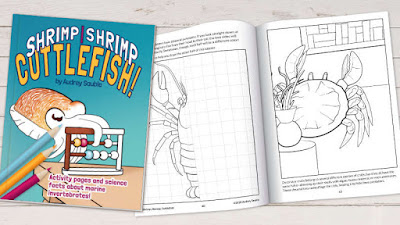 A scientific coloring book about marine invertebrates