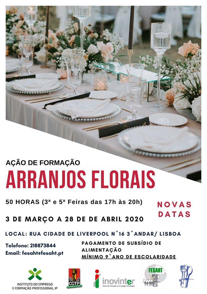 Curso financiado de Arranjos Florais em Lisboa