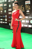 Meenakshi Dixit in Red One Shoulder Red Zipped up gown at IIFA Utsavam Awards023.JPG