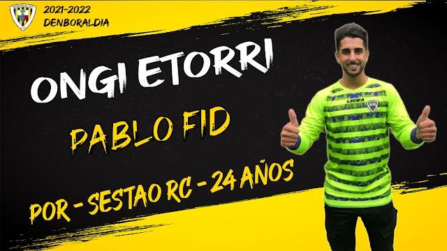 Fútbol. Pablo Fid, procedente del Sestao River, completa la portería del Barakaldo CF para la 2021/2022