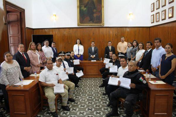 Gratifican labor de elementos de Secretaría de Seguridad Ciudadana en Cholula