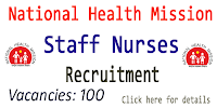 NHM Staff Nurses Recruitment 100 Vacancies- 20,000 Salary