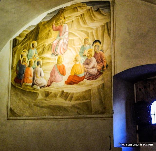Afrescos nas celas dos monges do Mosteiro de San Marco, em Florença