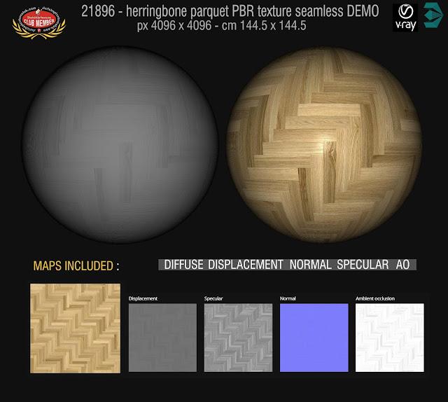 Herringbone parquet PBR texture seamless 21896