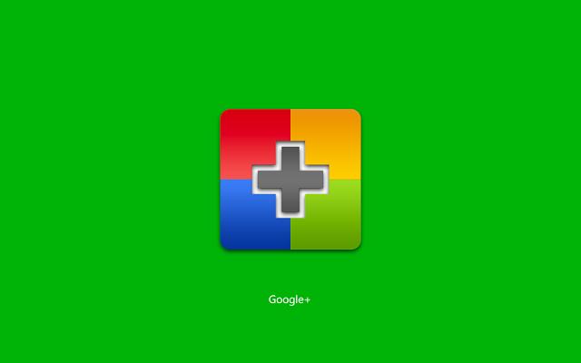 Google +.Обои для рабочего стола.