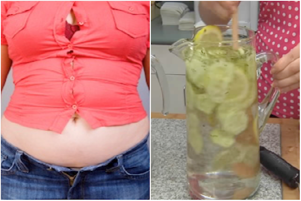 Eliminar el estómago hinchado en 1 minuto