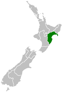 Hawke's Bay area where the UFO was seen from the plane.