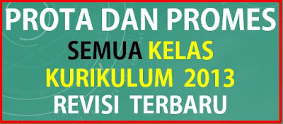 Prota dan Promes Kelas 1 2 3 4 5 dan 6 SD Kurikulum 2013 Revisi Terbaru