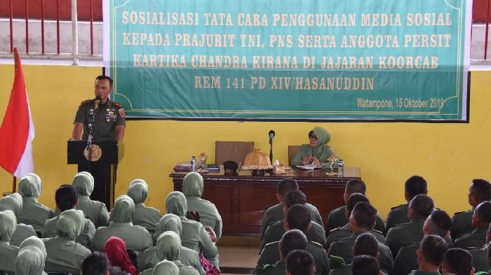 Istri TNI Dituntut Bijak Gunakan Medsos