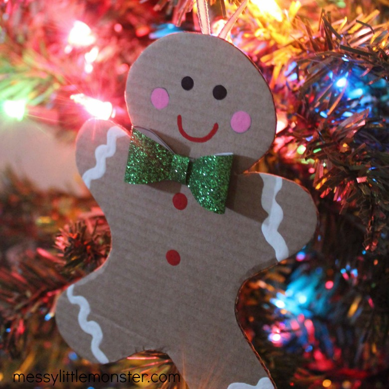 cardboard gingerbread man ornament