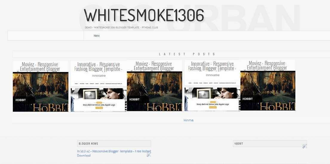 WhiteSmoke1306 - Responsive Photography Blogger Template - Photography Blog Template