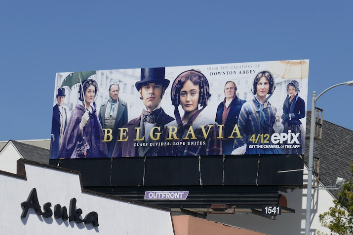 Belgravia season 1 Epix billboard