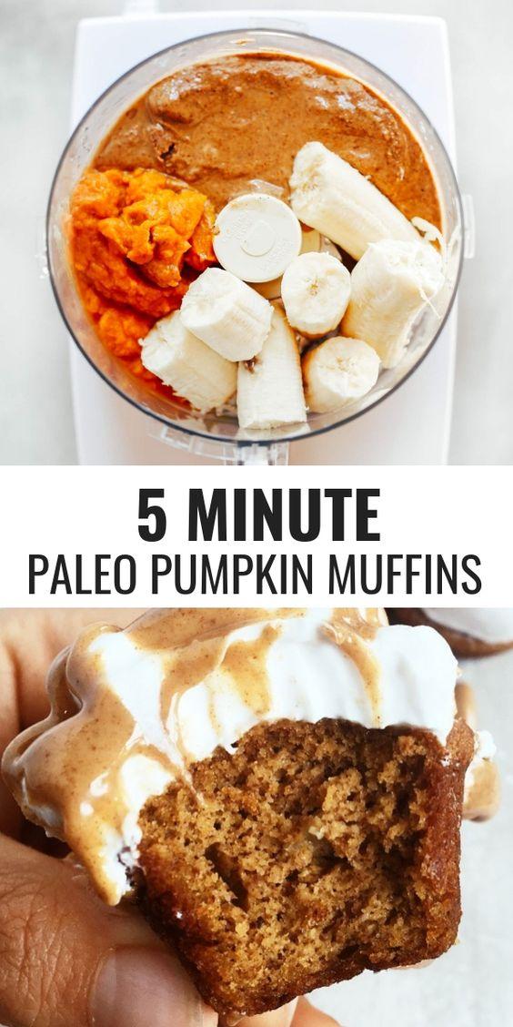GLUTEN FREE PALEO PUMPKIN PROTEIN MUFFINS #gluten #free #paleo #pumpkin #protein #muffins #cake #cakerecipes #dessert #dessertrecipes